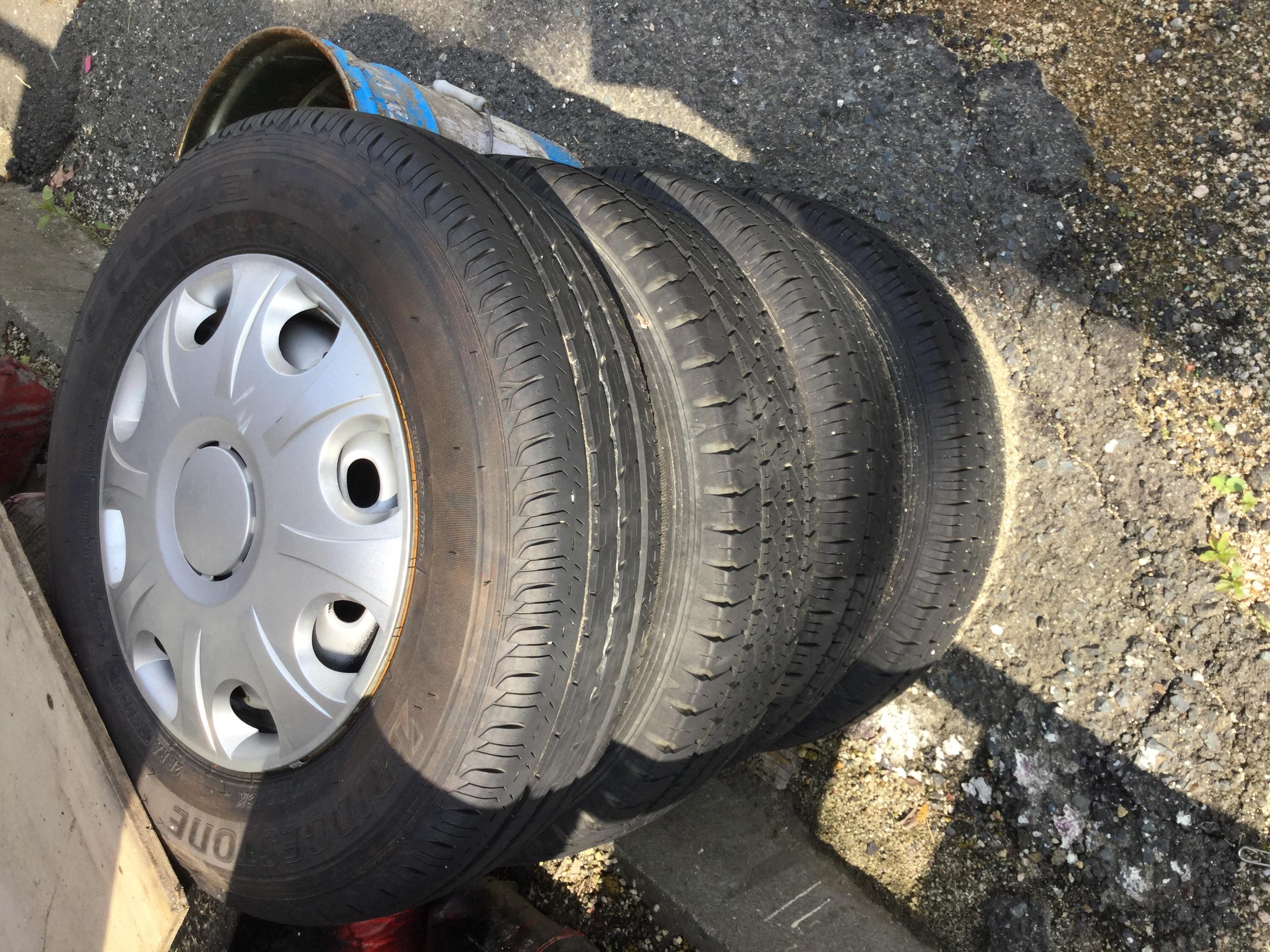 姫路市で不用品のタイヤの回収